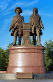 Monument to the founders of Yekaterinburg, Russia Royalty Free Stock Photo