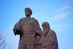 Monument to the founders of Zvenigorod Zvenigorod Yuri and Saint Royalty Free Stock Photography