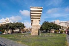 Monument to Francesc Macia on the Placa de Catalunya Royalty Free Stock Photos