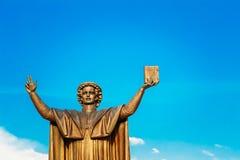 Monument to Francisk Skarina in Minsk Stock Image