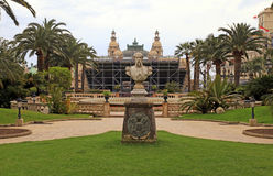 Monument to Francois Blanc in the park near the Monte Carlo Casi Royalty Free Stock Image