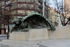 Monument to František palacký Palacký square. Royalty Free Stock Photography