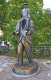Monument to Franz Kafka in the Jewish Quarter in Prague Royalty Free Stock Photo