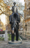 Monument to Franz Kafka in Prague Royalty Free Stock Images