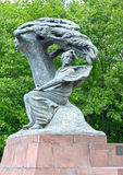 Monument to Frederic Chopin in the Lazenki park against the background of trees. Warsaw, Poland Stock Photos