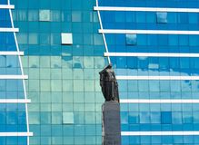 Monument to the free woman of the East in Baku Stock Photo