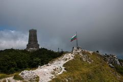 Monument to Freedom Shipka, Stoletov peak royalty free stock photos
