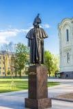 Monument to Fyodor Ushakov in Kronstadt Stock Image