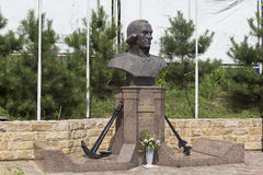 Monument to Fyodor Ushakov in settlement Kudepsta, Sochi, Krasnodar region, Russia Stock Photography