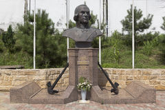 Monument to Fyodor Ushakov in the temple in settlement Kudepsta, Sochi Royalty Free Stock Photography