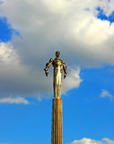 Monument to Gagarin Royalty Free Stock Photography