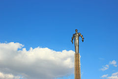Monument to Gagarin - the first spaceman Royalty Free Stock Photo