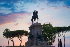 Monument to Garibaldi in Rome Royalty Free Stock Photo