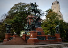 Monument to General San Martin and the Armies of Independence. Statue of General San Martin in Buenos Aires, Argentina Royalty Free Stock Image