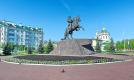 Monument to General Yermolov, the hero of the War of 1812. Royalty Free Stock Photo