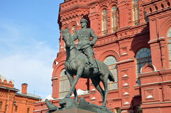 Monument to George Zhukov Royalty Free Stock Photography