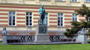 Monument to german chemist August Kekule in Bonn Royalty Free Stock Photos