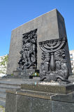 Monument to the Ghetto Heroes. Monument commemorating the heroes of the Warsaw Ghetto, built near the site of the first Jewish insurgents fighting the Nazis Royalty Free Stock Photo