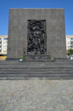Monument to the Ghetto Heroes. Monument commemorating the heroes of the Warsaw Ghetto, built near the site of the first Jewish insurgents fighting the Nazis Royalty Free Stock Photos