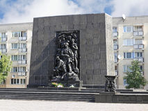 Monument to the Ghetto Heroes in Warsaw Stock Photos