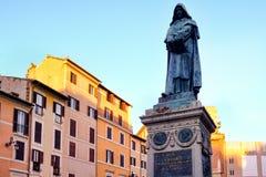 Monument to Giordano Bruno at Campo dei Fiori in central Rome Stock Images