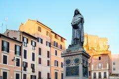 Monument to the  Giordano Bruno in Campo dei Fiori in Rome Royalty Free Stock Photo