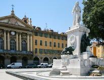 Monument to Giuseppe Garibaldi on Place Garibaldi Royalty Free Stock Images