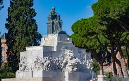 Monument to Giuseppe Mazzini royalty free stock photo