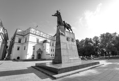 The monument to Grand Duke Gediminas  who famously founded Vilnius in 1323 and who was also Grand Duke of Lithuania , Vilnius. Vilnius, Lithuania - August 12 Stock Photos
