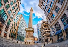 The Monument to the Great Fire of London royalty free stock photography