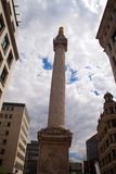 Monument to the Great Fire of London Stock Images