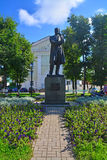 Monument to great Russian composer Tchaikovsky in Klin city Stock Image