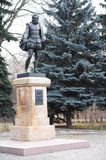 Monument to the great Spanish writer Miguel de Cervantes Saavedra, Park `Friendship`, Moscow. Royalty Free Stock Image