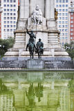 Monument to great writer Cervantes Royalty Free Stock Photo