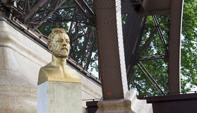 Monument to Gustave Eiffel Royalty Free Stock Photo