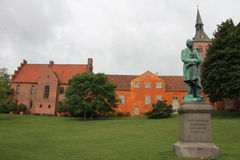 A monument to Hans Christian Andersen in Copenhagen, Denmark. A monument to Hans Christian Anderson in Copenhagen, Denmark. Historic Landmark in the capital of Stock Photography
