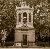 Monument to Henri Darcy, sephia effect Royalty Free Stock Photos