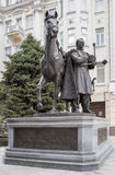 Monument to Hero of the Patriotic War of 1812-1814 M.I.Platov Royalty Free Stock Images