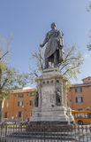 Monument to the hero of the Risorgimento Manfredo Fanti Royalty Free Stock Images