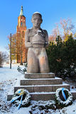 Monument to Hero in Savonlinna, Finland Royalty Free Stock Photos