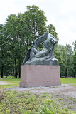 Monument to the heroes of the epic Kalevala Air Fairy and duck. HELSINKI, FINLAND - JULY 11, 2015: Monument to the heroes of the epic Kalevala Air Fairy and duck Stock Image