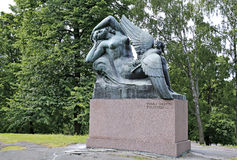 Monument to the heroes of the epic Kalevala Air Fairy and duck Stock Image