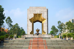 The monument to heroes martyrs of the anti-French revolt of 1886-1887 on the Badin Square. Hanoi Stock Images