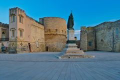 Monument to the heroes and martyrs of 1840 in Otranto. Salento, Apulia Italy. royalty free stock images