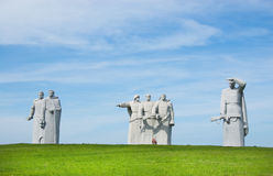 Monument to heroes of the Red Army. VOLOKOLAMSK, RUSSIA - JULY 11: Monument to heroes of the Red Army on July 11, 2011 near Volokolamsk, Russia. It is dedicated stock photo