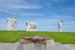 Monument to heroes of the Red Army. VOLOKOLAMSK, RUSSIA - JULY 11: Monument to heroes of the Red Army on July 11, 2011 near Volokolamsk, Russia. It is dedicated stock photography