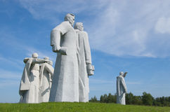 Monument to heroes of the Red Army. VOLOKOLAMSK, RUSSIA - JULY 11: Monument to heroes of the Red Army on July 11, 2011 near Volokolamsk, Russia. It is dedicated royalty free stock image