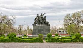 Monument to the heroes of the red Tsaritsyn defense Stock Images