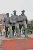 Monument to the heroes of the Volga Fleet Royalty Free Stock Photos