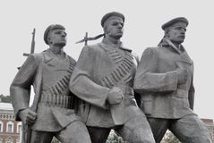Monument to the heroes of the Volga Fleet Stock Images